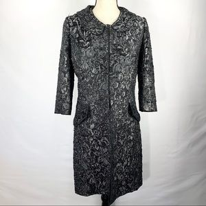 St. John Couture Long Jacket Sz 8